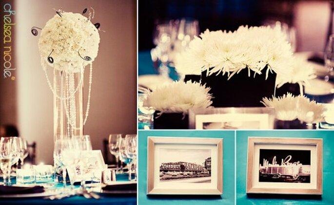 Centros de mesa para tu boda - Foto Chelsea Nicole