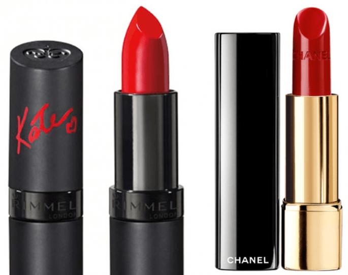 Rouge Allure in Passion y Kate Lasting Finish Lipstick - Foto Selfridges y Rimmel