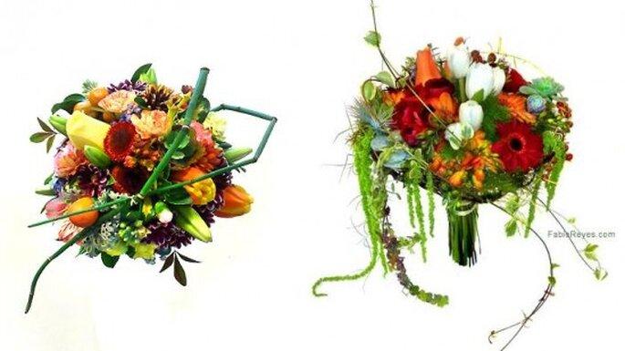 Ramos de novia.Fotos Favio Reyes, diseño en flores.