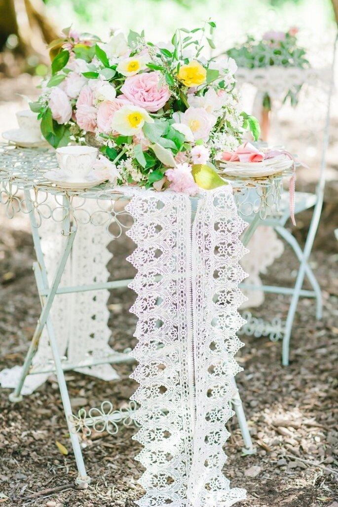 Rosa Hochzeitsdekoration - Foto Avec L'Amour Photography