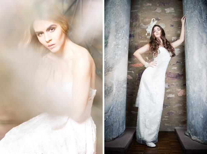Schlichte und elegante Brautmode von WEISS zu SCHWARZ - Foto: Sandra Schmidbaur