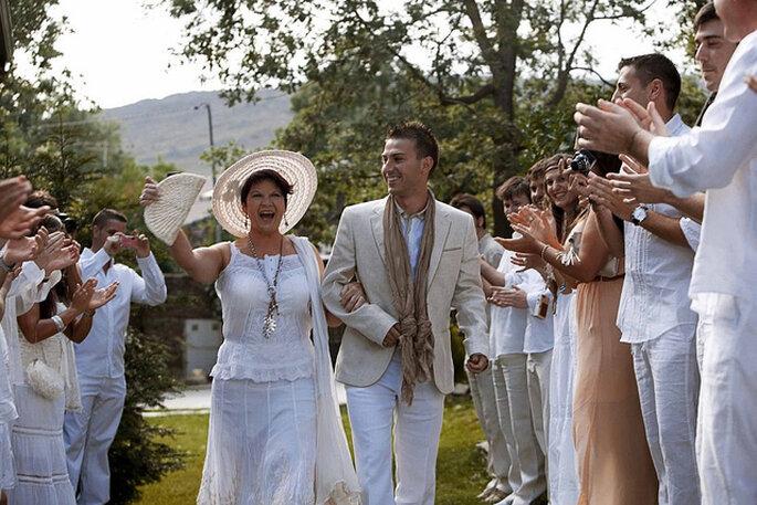 La madre de la novia es una de las protagonistas del gran día. Foto: Jose Cortés Cortajarena