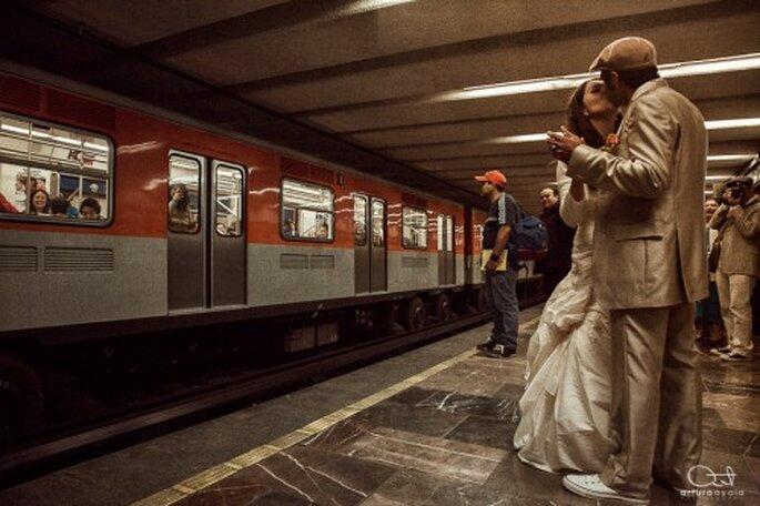 La boda de Elda y Pepe en el Gran Hotel de la Ciudad de México. Fotografía Arturo Ayala