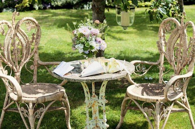 Ideas de decoración para el jardín - Foto: Kate Moss Wedding