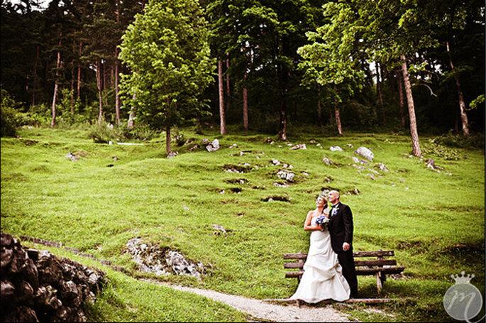 Idyllische Hochzeitsbilder in der Natur. - Foto: Martina Rinke.