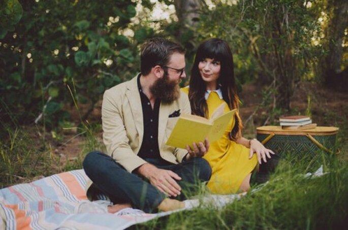 Sesión de fotos pre boda estilo hipster - Foto Alyssa Shrock