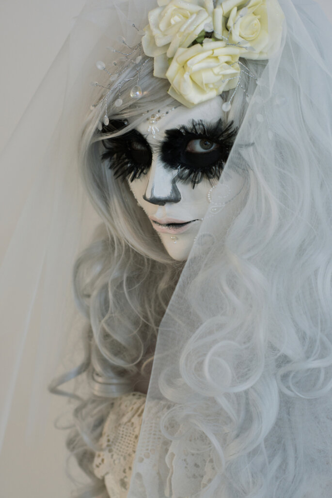 Zombie-Braut zum Fürchten – Foto via shutterstock