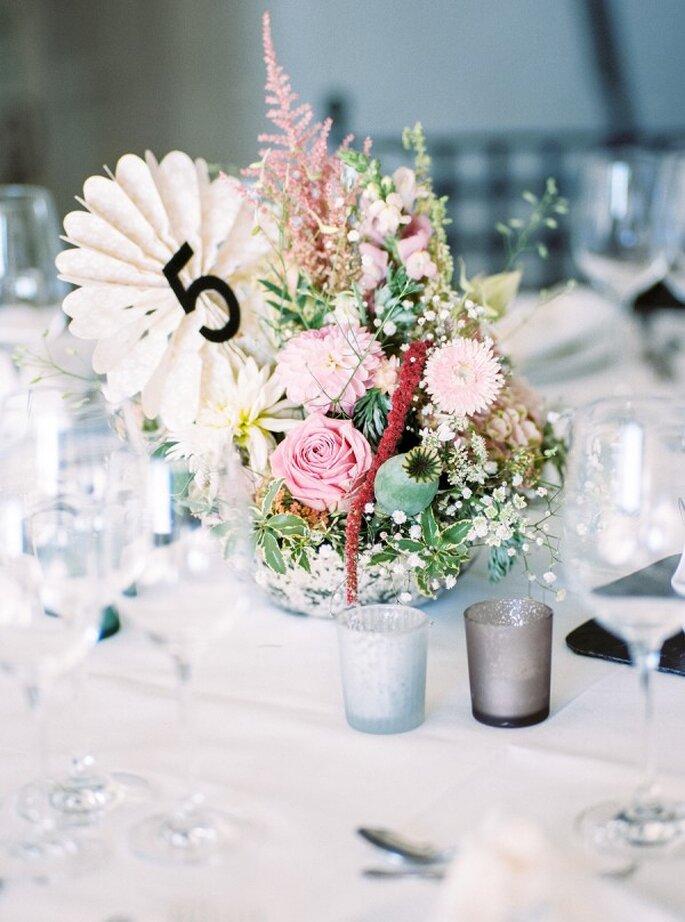 Indicadores de mesa para tu boda - Foto Birgit Hart Fotografie
