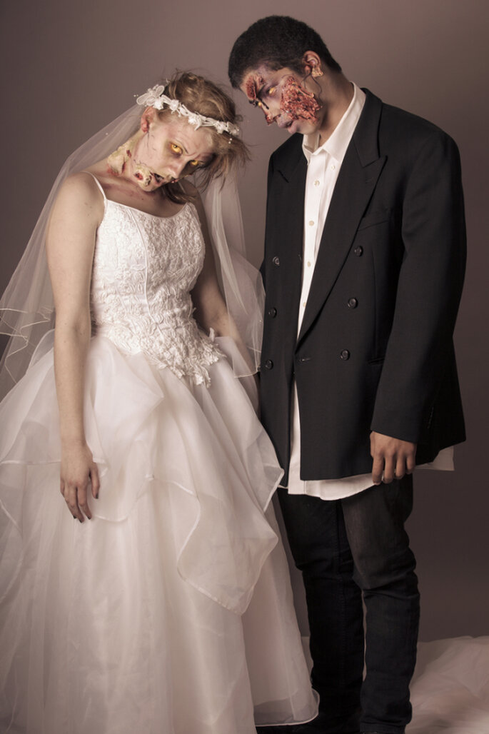 Gruselige Hochzeit feiern? Zu Halloween ist alles möglich! – Foto via shutterstock