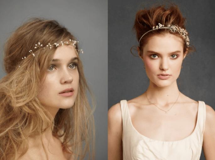 Diademas y coronas con estilo vintage inspirados en la naturaleza - Foto BHLDN