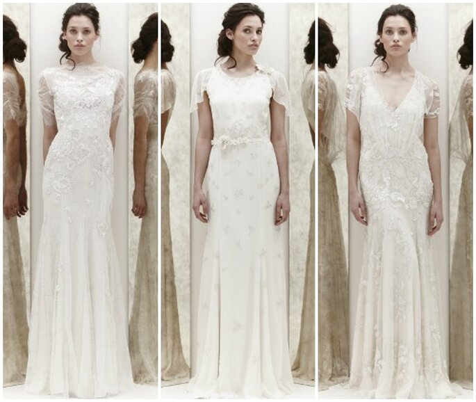 Tre proposte in puro stile vintage firmate Jenny Packham Spring Collection 2013. Foto www.jennypackham.com
