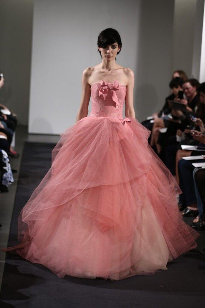 Vestidos de novia color rosa de Vera Wang colección otoño 2014 ...