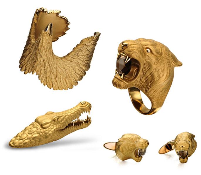 Accesorios de oro en forma de animales diseñados por Carrera y Carrera - Foto: image.net