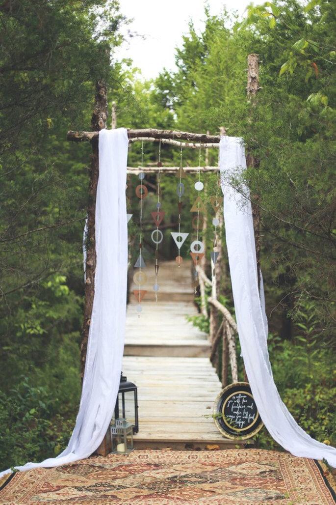 Formas geométricas en la decoración de tu boda - Foto Abby Weeden Photography