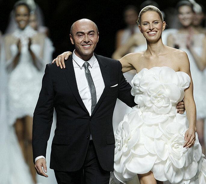 Manuel Mota en el último desfile de Pronovias en la Barcelona Bridal Week.