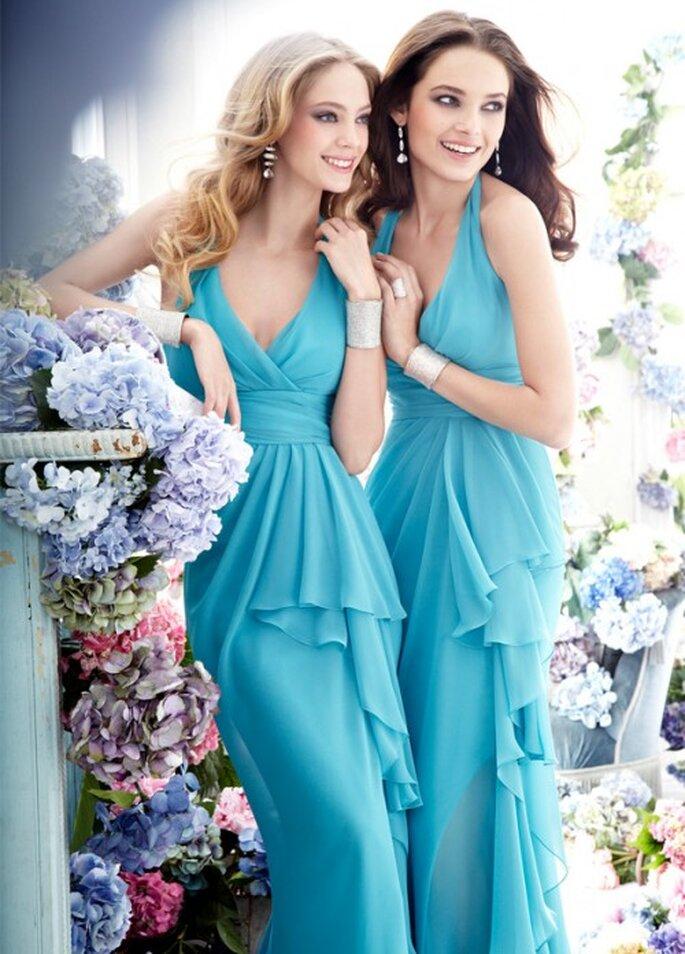 Vestidos de gala en color azul de moda en 2013 - Foto JLM Couture