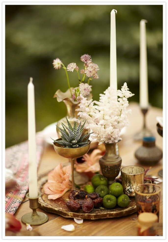 Organiza una cena al estilo étnico antes de la boda - Foto Scott Clark