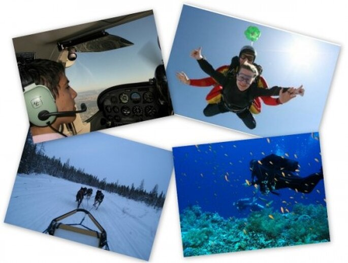 Regalos para una pareja aventurera: saltos en paracaídas, Luna de Miel aventura, clases de submarinismo