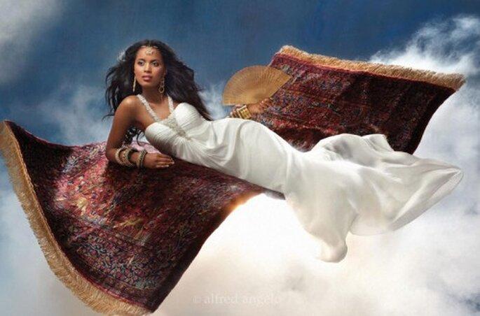 Vestido de novia inspirado en Jasmin - Foto Alfred Angelo