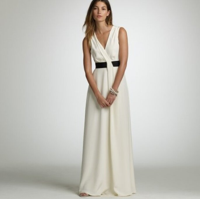 Silk Tricotine Gala Gown