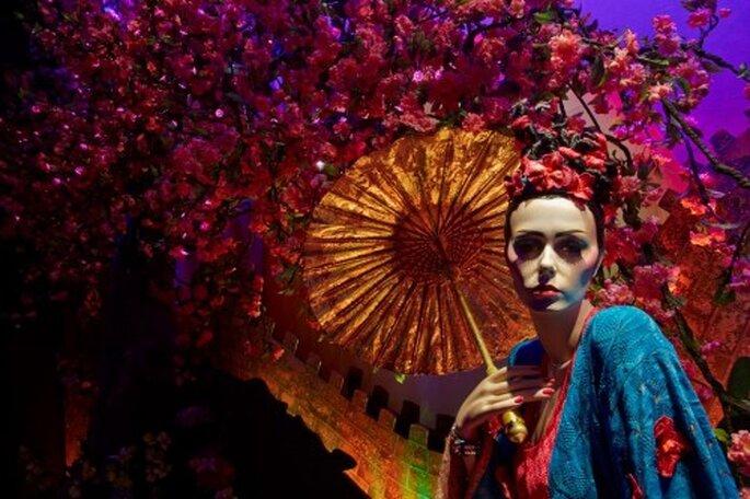 Close up del vestido de novia inspirado en Mulan - Foto Harrods