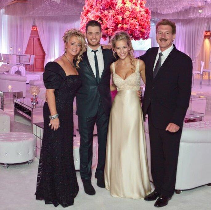El vestido de novia de Luisana en la boda de Canadá