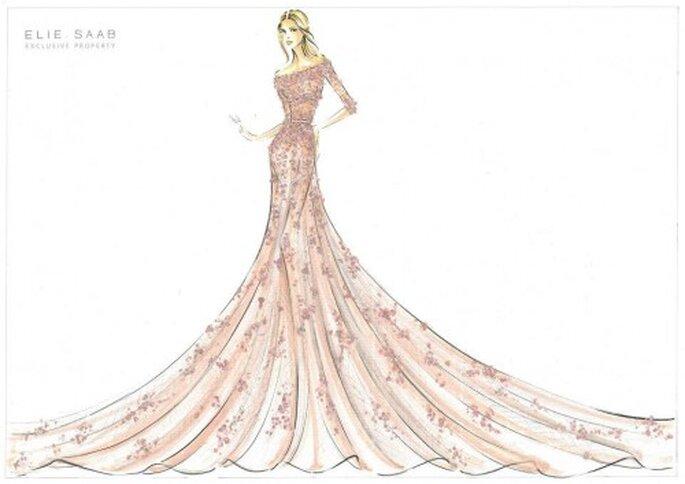 Vestido de novia inspirado en La bella durmiente - Foto Elie Saab