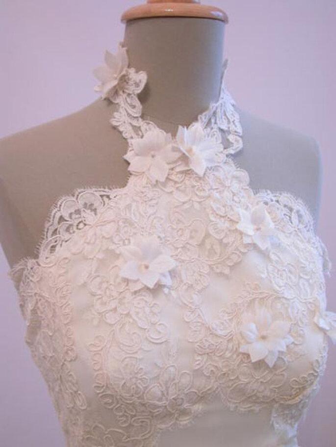 Robe de mariée Géraldine Lemonnier-Leblanc - Création sur-mesure, fleurs en soie