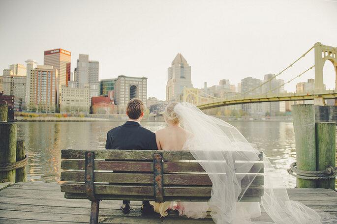 Boda en la ciudad. Foto: Lea Ann Belter Bridal - Sky's the Limit Photography