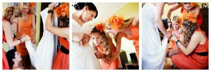 kolor przewodni ślubu pomarańczowy