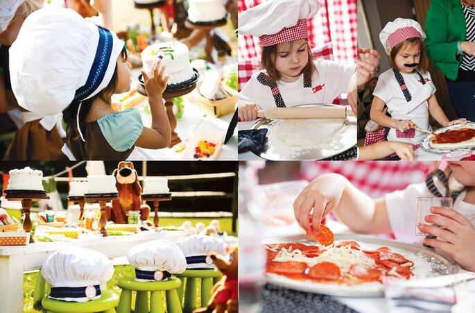 taller cocina niños boda