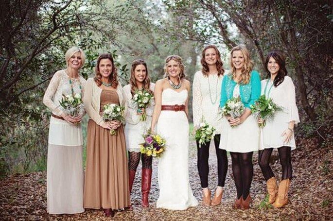 Casamento em estilo Boho. Foto: Green Wedding Shoes