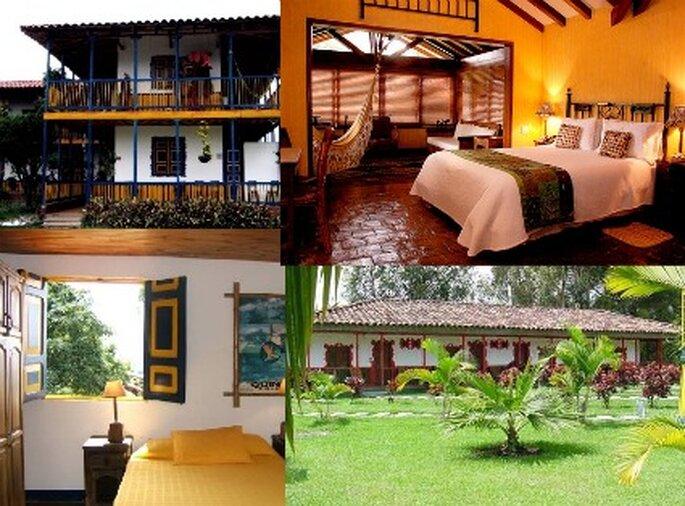 Haciendas cafeteras con servicio hotelero para luna de miel.