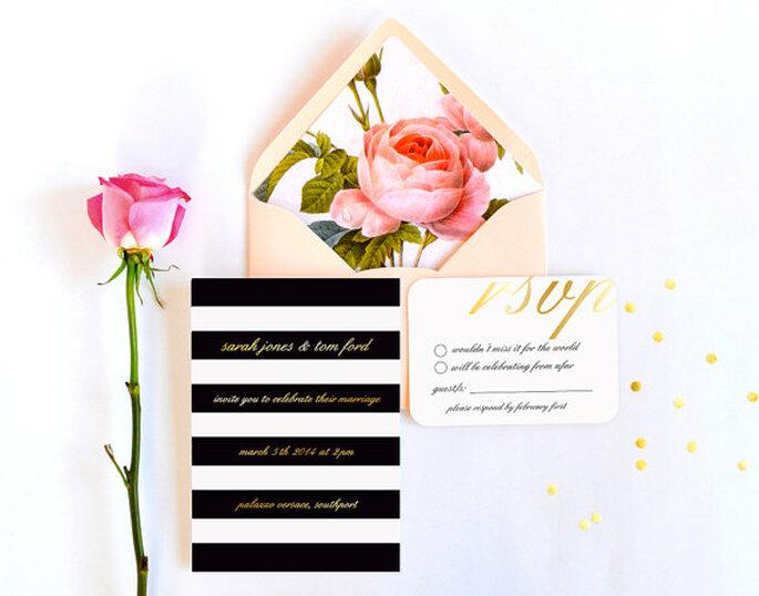 Invitaciones llenas de color y estilo - Foto Etsy
