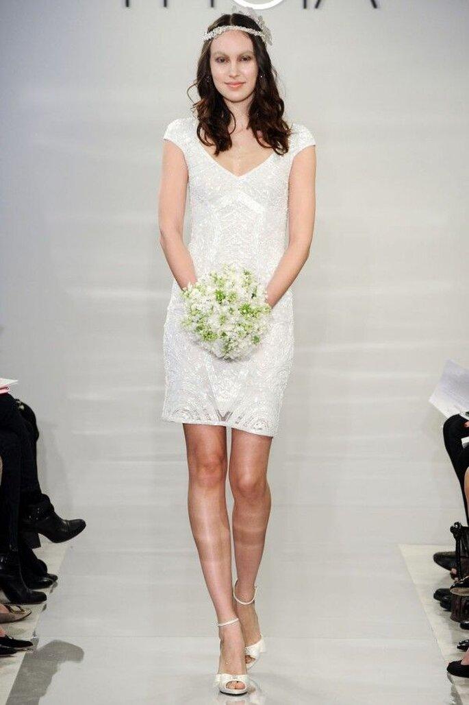 Vestidos de novia cortos que nos fascinan -  Foto Theia