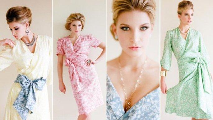 Batas para novias en colores al pastel - Foto Plum Pretty Sugar