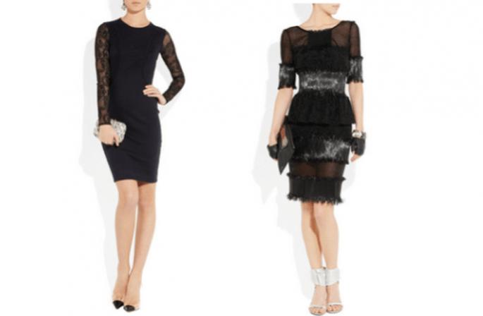 Formas de reciclar tu vestido negro para una boda de noche con accesorios opulentos - Foto Net a Porter