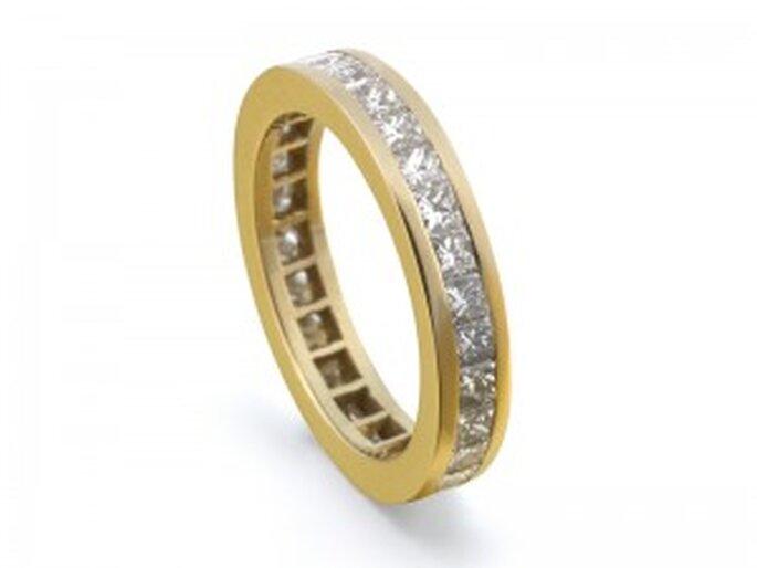 Anillo Compromiso - Doble Vía Brillantes Princesa de Diamantísimo