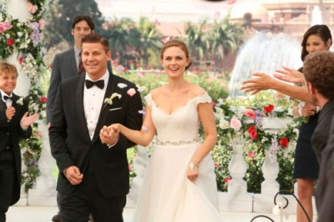 """Finalmente Booth y Brennan se casan en la serie """"Bones"""" - Foto FOX"""