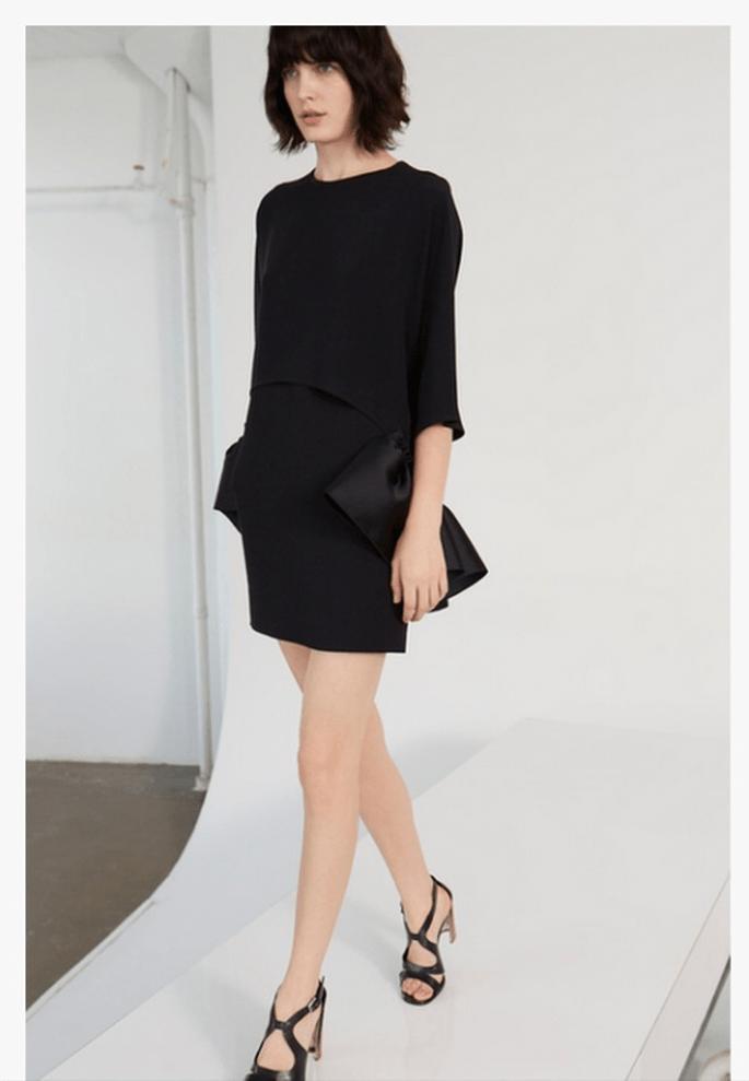 Vestido corto en color negro para bodas 2014 - Foto Stella McCartney