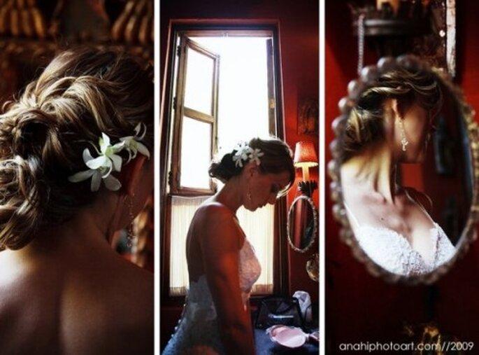 Peinados de bodas. Foto de Anahí Navarro.