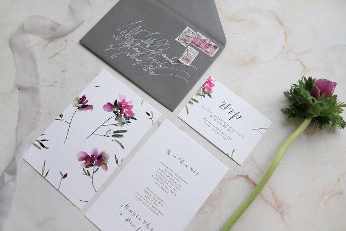 zaproszenie kwiatowe Love Prints