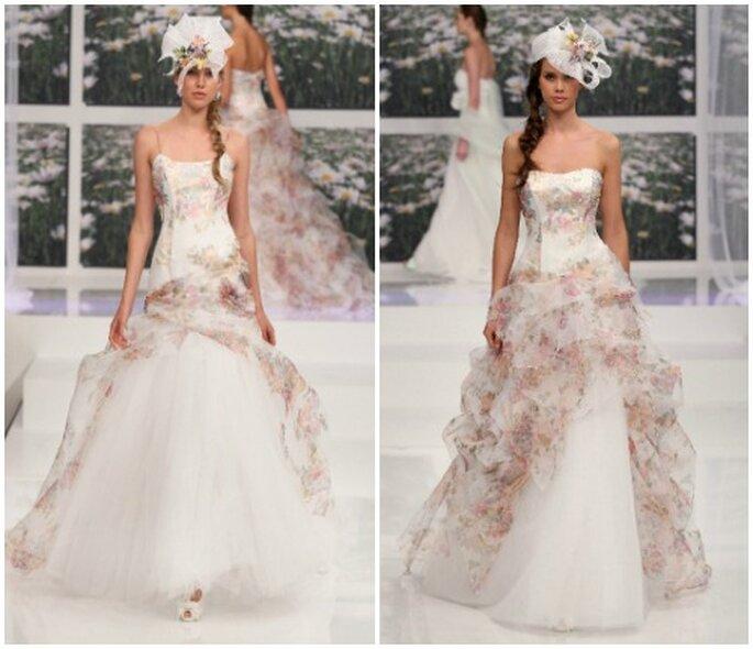 Lo stile perfetto per chi ama l'idea di un abito da sposa dall'aria bucolica. Emé di Emé Collezione 2013. Foto: www.emedieme.it