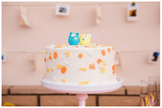 Muñequitos divertidos para el pastel de bodas - Foto Rachel Thurston