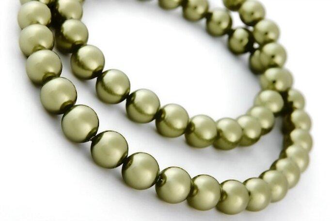 Collier Boule de Coton pour une mariée raffinée - Photo : Poésie des Perles