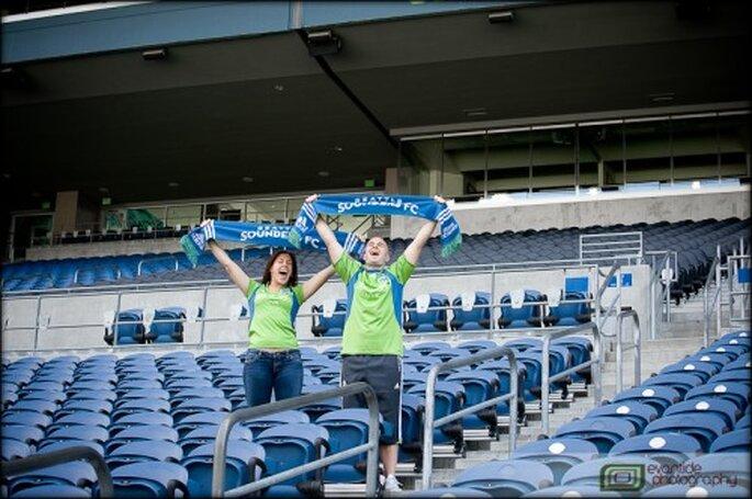 Celebra tu amor en un estadio - Foto Evantide Photography