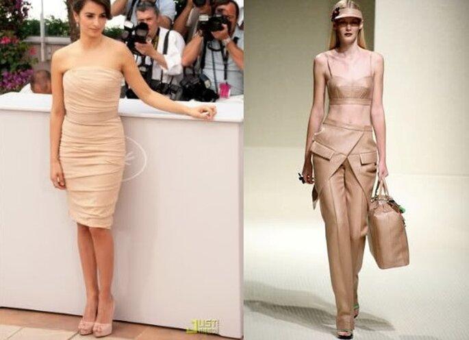 Moda e Tendencias 2010 - vestidos nude