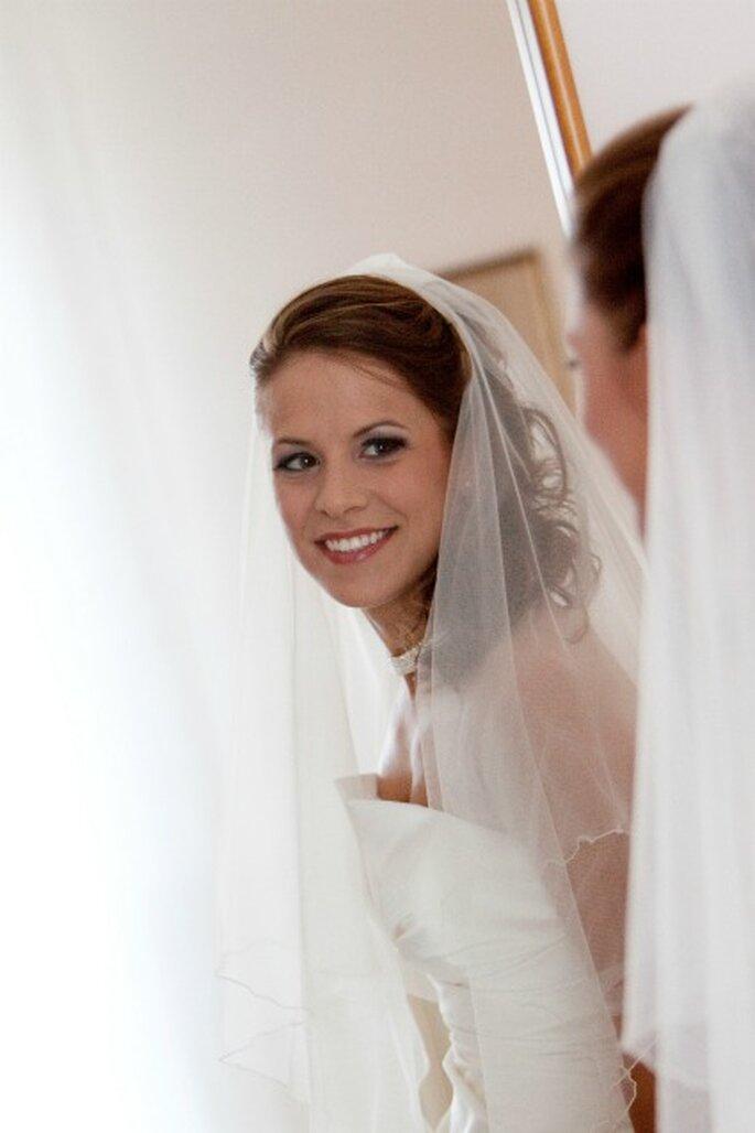 Alessandra radiosa nel giorno del suo matrimonio. Foto di Francesca Pisoni