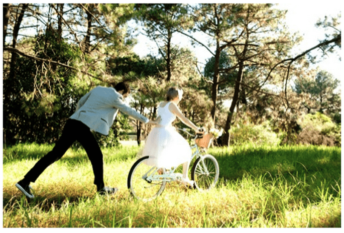 Fotos de boda con bicicletas - Foto Infinity Photography