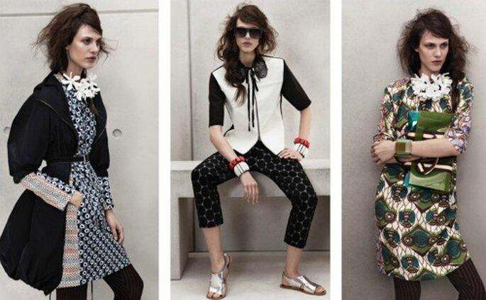 Non solo abiti ma anche accessori, gioielli, scarpe, borse e occhiali in questa collezione creata da Marni per H&M